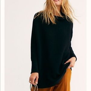 Free People Ottoman Slouchy Tunic, Black, XS